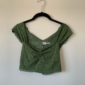 NWOT Sexy lace crop top